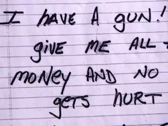 I have a gun! Ограбить банк при помощи записки - это реально