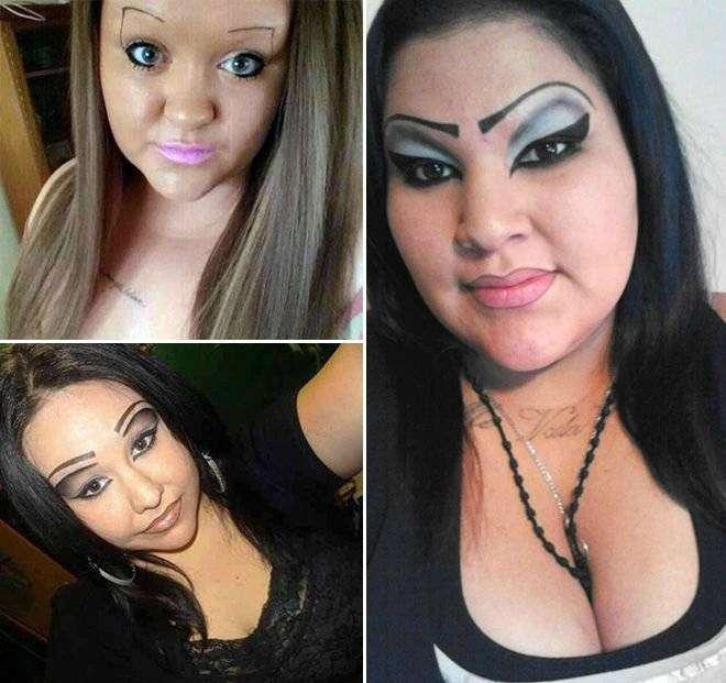 Страшилы, не умеющие пользоваться косметикой