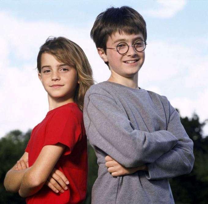 Уникальные фото главных героев фильма «Гарри Поттер»