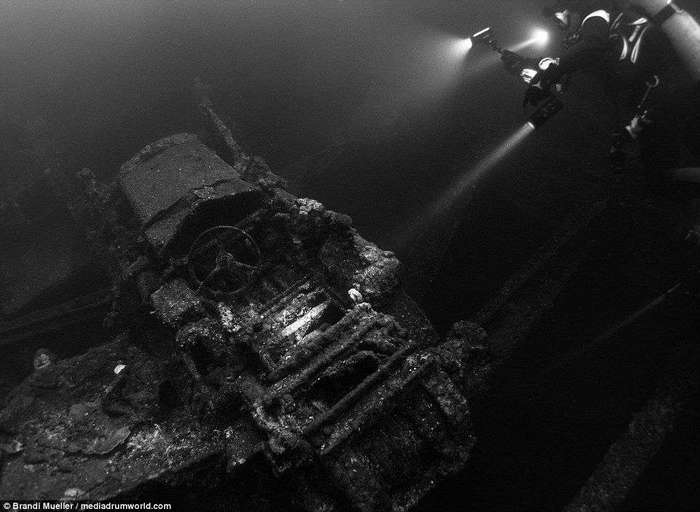 Опубликованы снимки затопленной японской техники времен Второй мировой войны