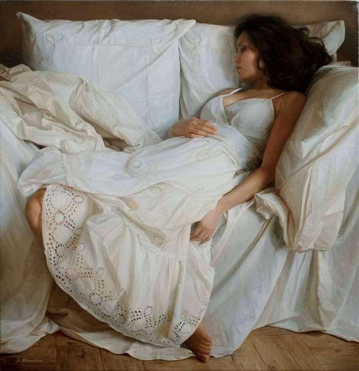 Красота женского тела в потрясающе реалистичных работах Сергея Маршенникова
