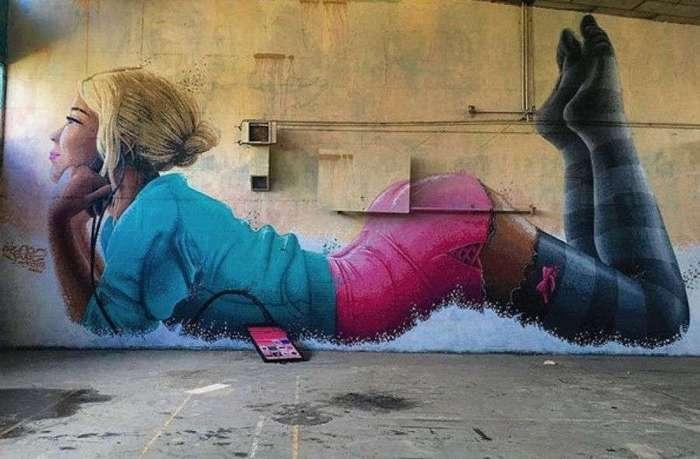 20 стрит-арт-работ на грани искусства и хулиганства