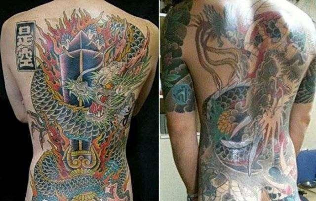 Значения татуировок якудза