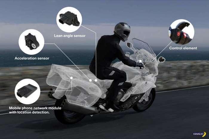 BMW запускает умную систему для спасения мотоциклистов