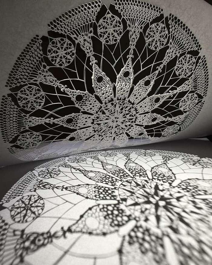 Бумажные кружева: невероятная тонкость и изящество бумажного ажура от японского мастера
