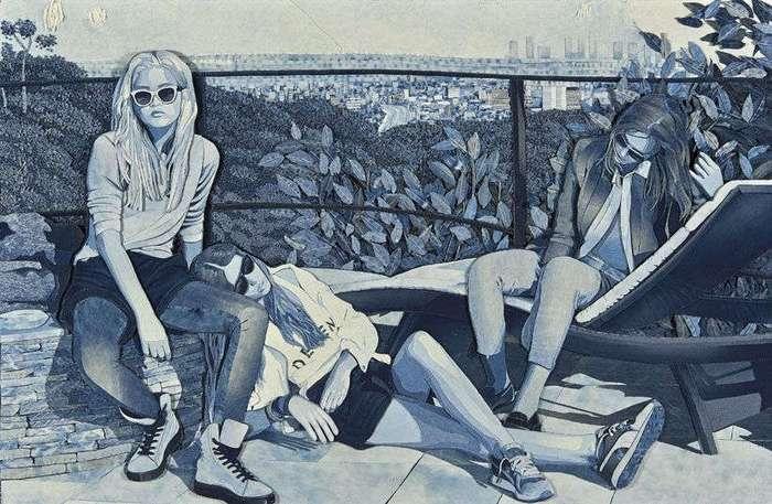 Джинсовые картины Яна Берри