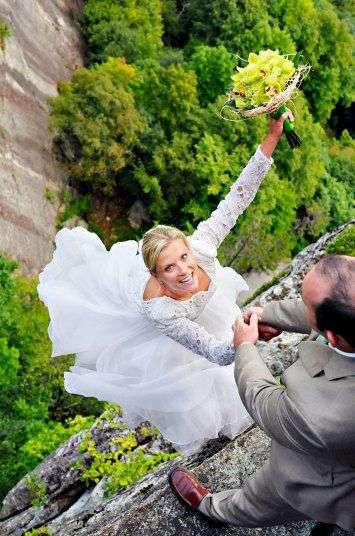 Экстремальные свадебные фотосессии