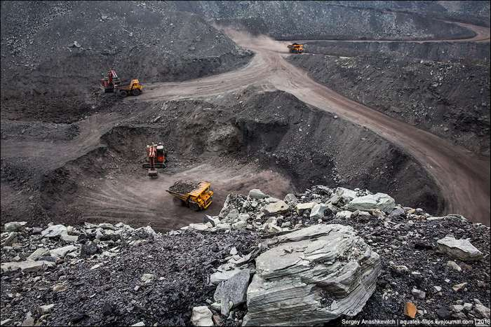 Как в Хакасии добывают уголь открытым способом