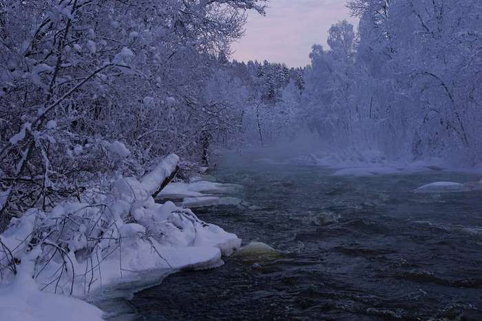 Зима в южной Карелии