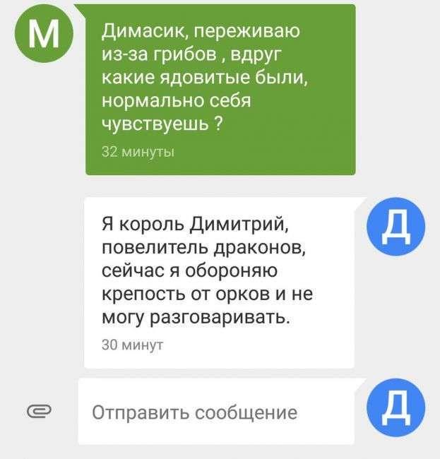 СМС прикольная переписка