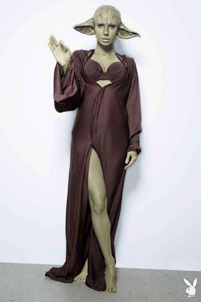 Известная модель Playboy примерила на себя образы персонажей «Звездных войн»