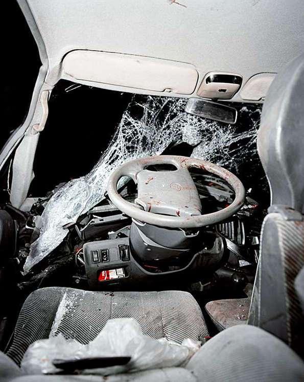 Внутри машин, разбившихся в страшных авариях