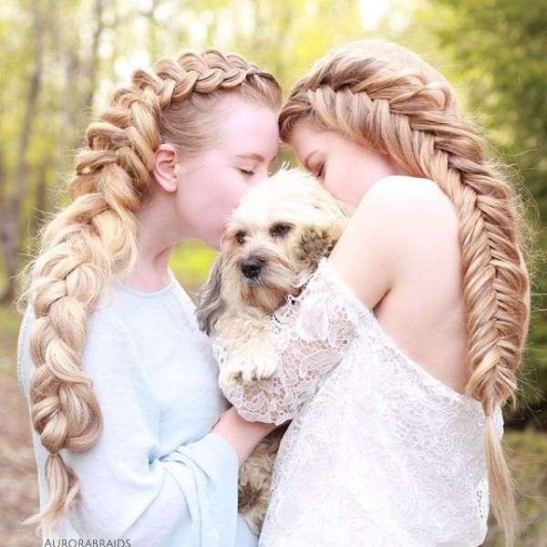 Эти сёстры плетут обалденные косы