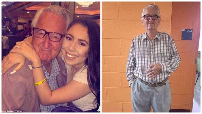 Девочка-подросток и ее 82-летний дедушка учатся в одном колледже