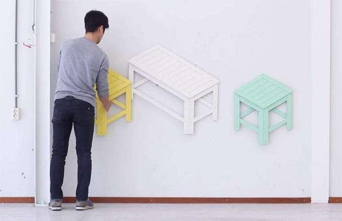 Складные стулья: из 2D в 3D