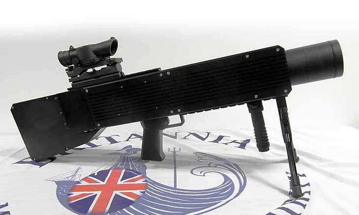 Лазерная винтовка SMU 100 Что-бы вывести человека из строя совсем необязательно его убивать. Достаточно ослепить, обездвижить, напугать и так далее.