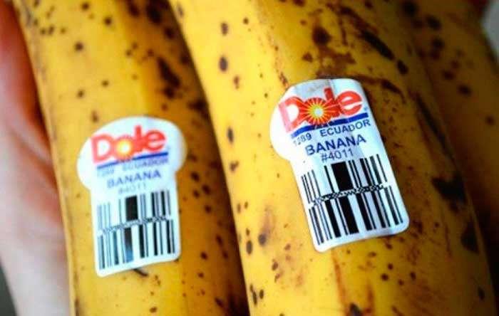 Наклейки на бананах