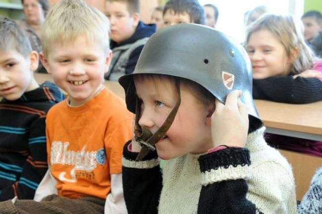 Урок патриотизма в латвийской школе