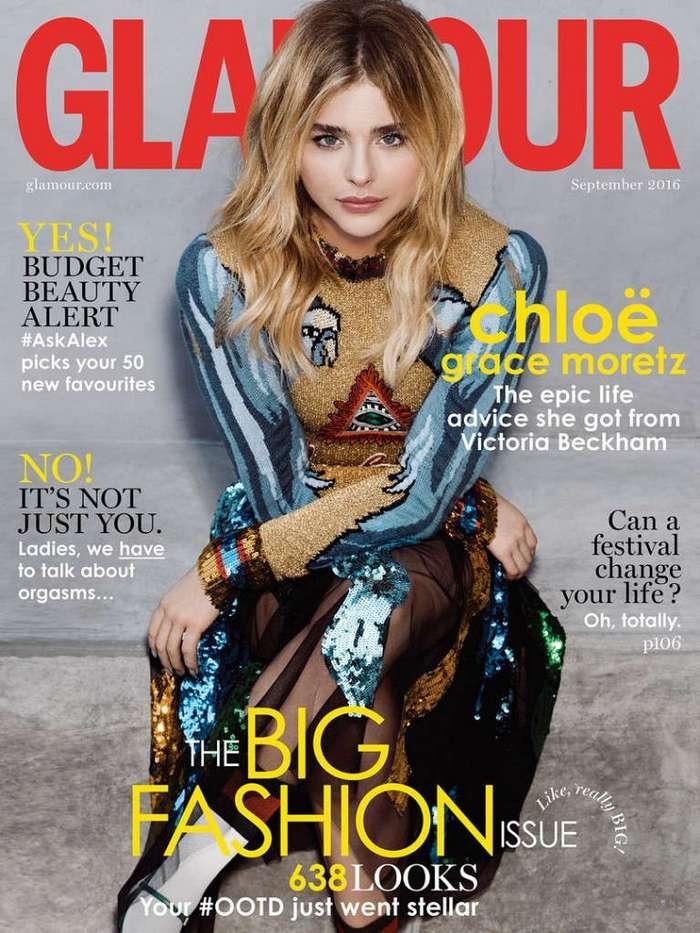 Хлоя Грейс Морец (Chloe Grace Moretz) в Glamour UK