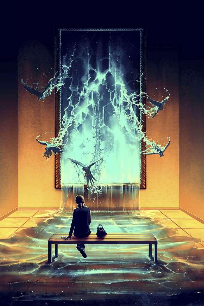 Французский художник, вдохновленный работами Хаяо Миядзаки и Тима Бертона, создает свою фантастическую Вселенную