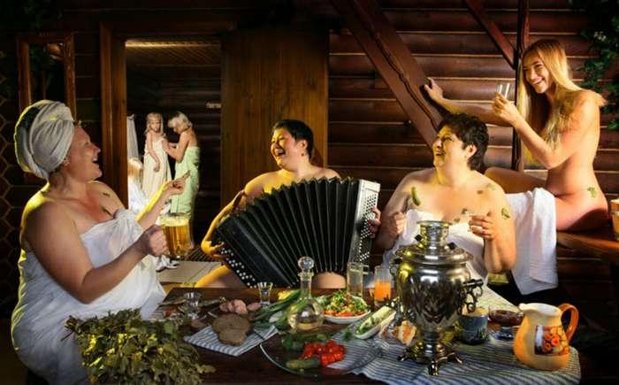 Русских тёток в бане деревенской 110