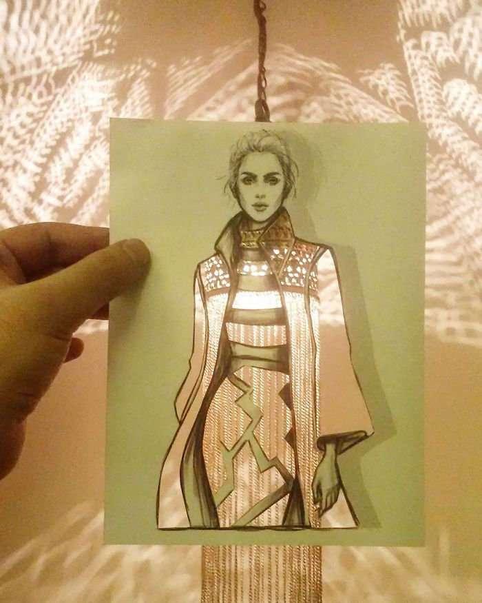 Новые и потрясающие модные силуэты от Шамеха Блуви