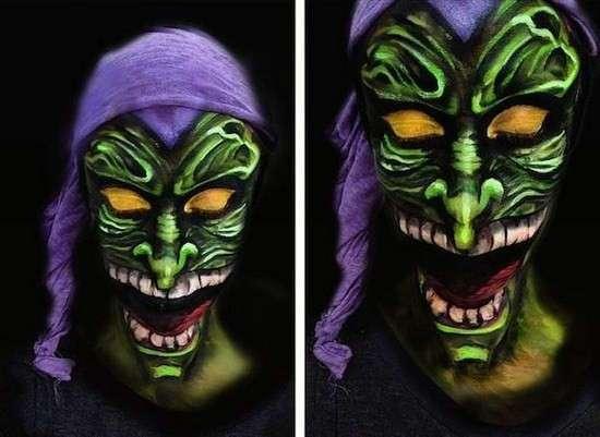 23 ночных кошмара: рисунки на лице