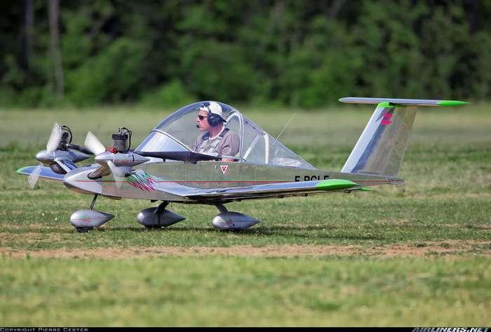 Самый маленький самолет Кри-кри весом 63 кг (+видео)