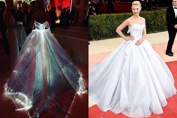 Сияющее платье превратило актрису Клэр Дэйнс в настоящую Золушку на балу Met Gala