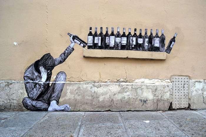 Юмор на улицах Парижа