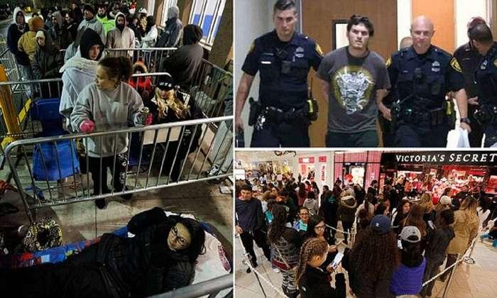 Безумие черной пятницы: отстрел покупателей в США идет полным ходом!