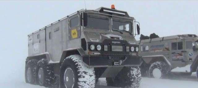 Российский вездеход Бурлак прошёл комплексные испытания и готов к покорению Северного полюса