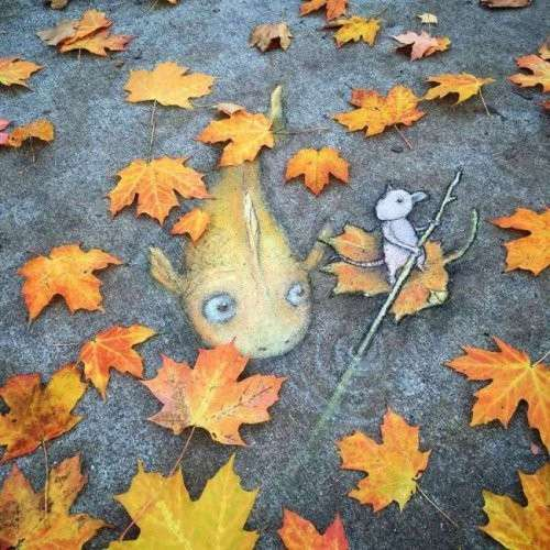 Забавные уличные рисунки