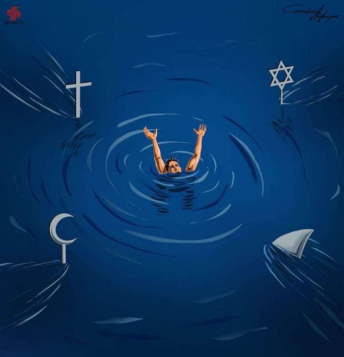 Супермаркет: сатирические иллюстрации современных проблем от Гундуза Агаева
