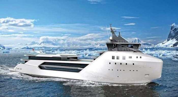 Бывший контейнеровоз станет люксовым судном с элементами роскоши
