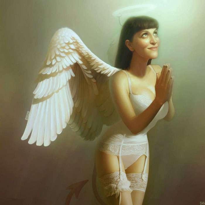 Игривые и коварные ангелочки и злодейки