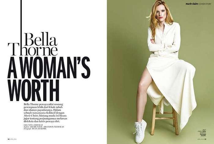 Белла Торн (Bella Thorne) в Marie Claire Indonesia