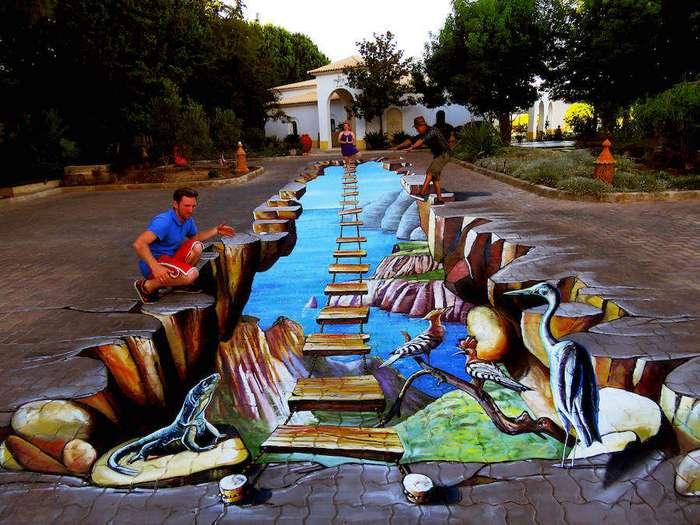 Уличные 3D-рисунки Vera Bugatti