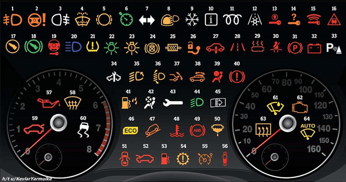 Значения значков на приборной панели автомобиля