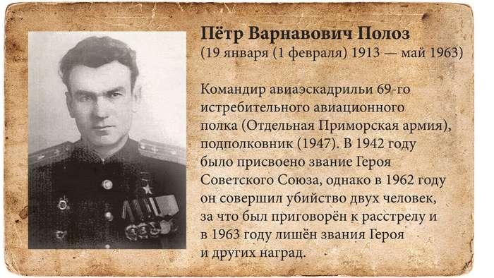ЛИШЕНИЕ ЗВАНИЙ ГЕРОЯ СОВЕТСКОГО СОЮЗА И ГЕРОЯ РОССИИ