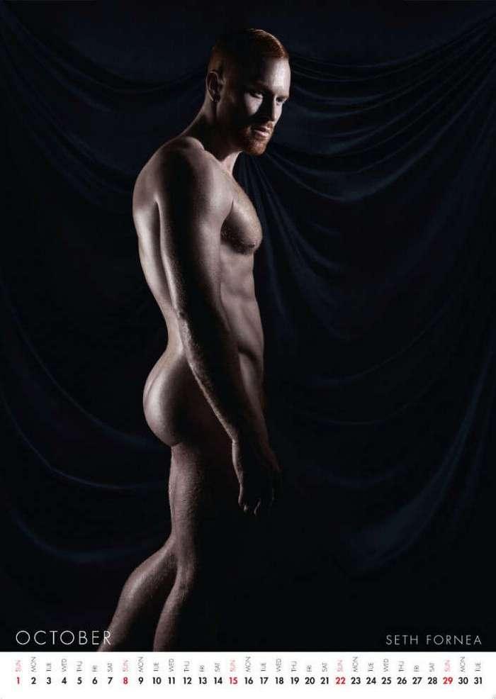 На зависть мужчинам, на радость женщинам: первый в мире эротический календарь, посвящённый рельефным рыжим красавцам