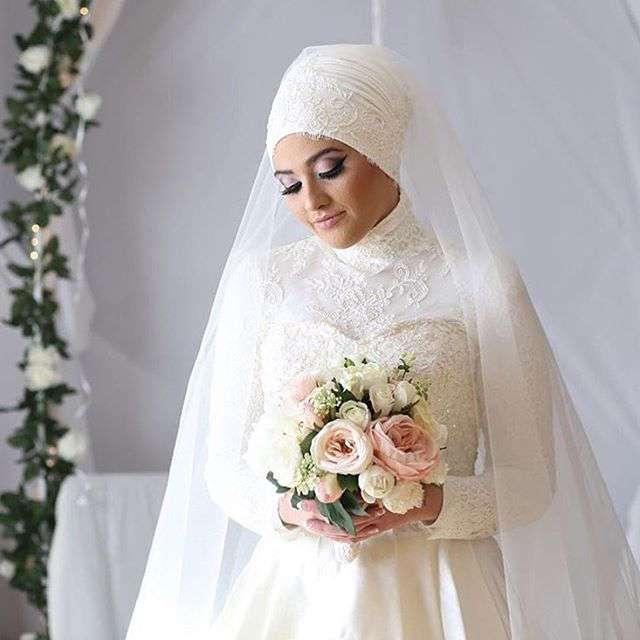 28 прекрасных невест, которые выходили замуж в хиджабе