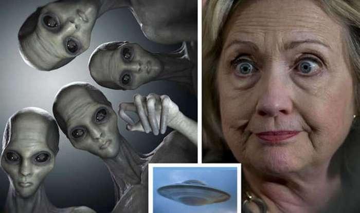 Хиллари Клинтон очень скоро познакомит землян с инопланетянами?