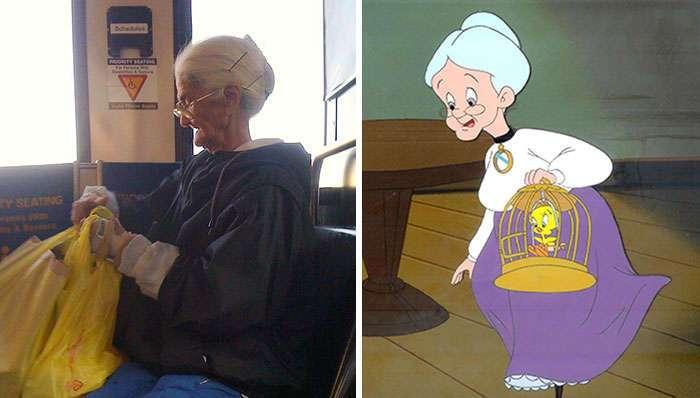 Персонажи мультфильмов и их двойники в реальной жизни
