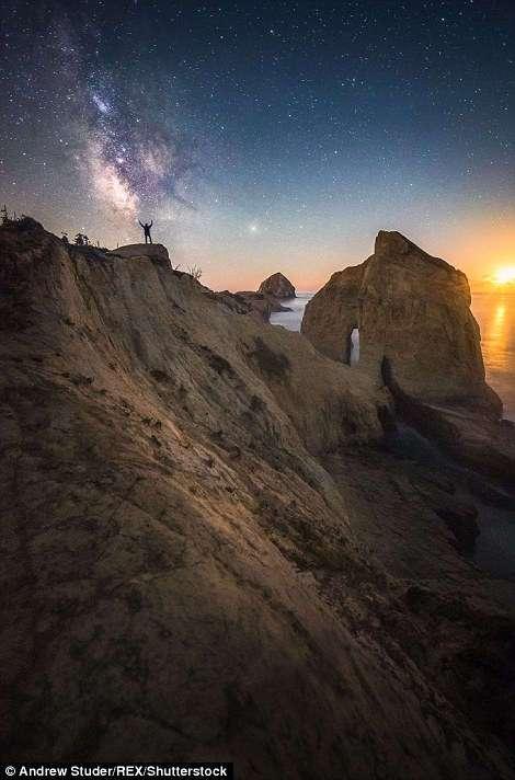 Песчинка в огромном мире: крошечный человек на фоне грандиозных пейзажей