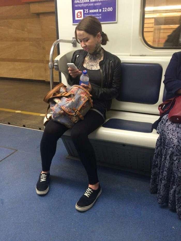 Странные пассажиры из российского метрополитена
