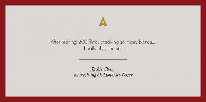 Джеки Чан получил почетный «Оскар»