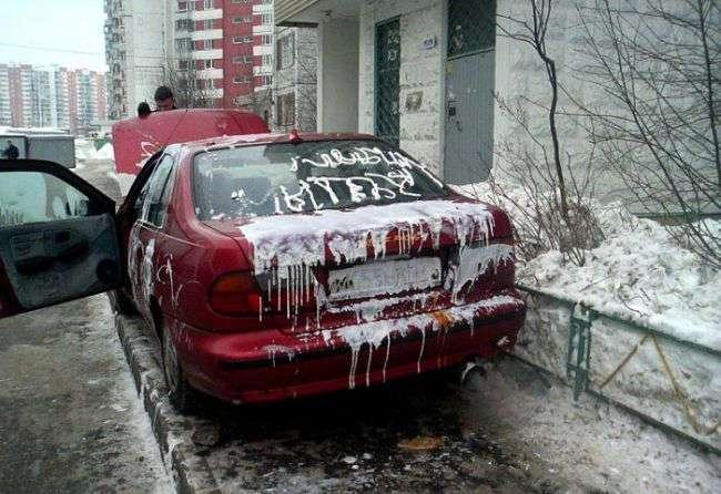 Фотоподборка автомобилей, которые пострадали за неправильную парковку
