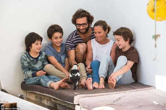 Усыновленная сорока спасла семью