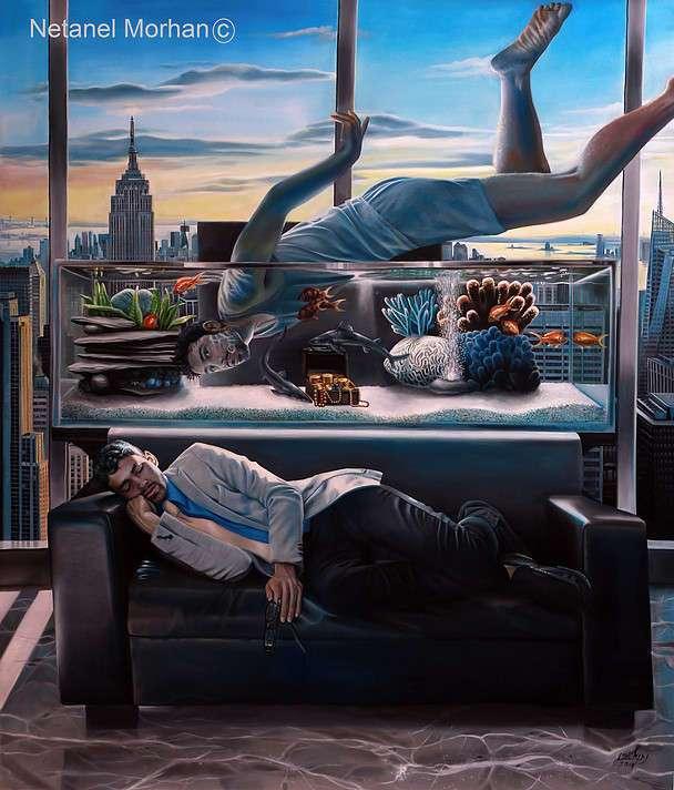 Сновидения в картинах Netanel Morhan